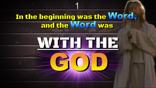 John 1:1. In the beginning was the Word, and the Word was with (THE) God, and the Word was God.