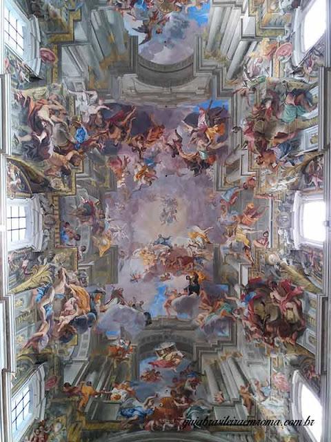 barroco afresco santo inacio - Roma Barroca