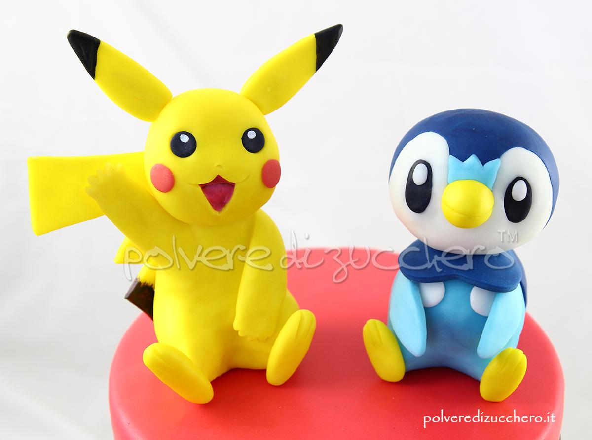 torta pokemon pikachu piplup pasta di zucchero cake design torta decorata sweet table polvere di zucchero