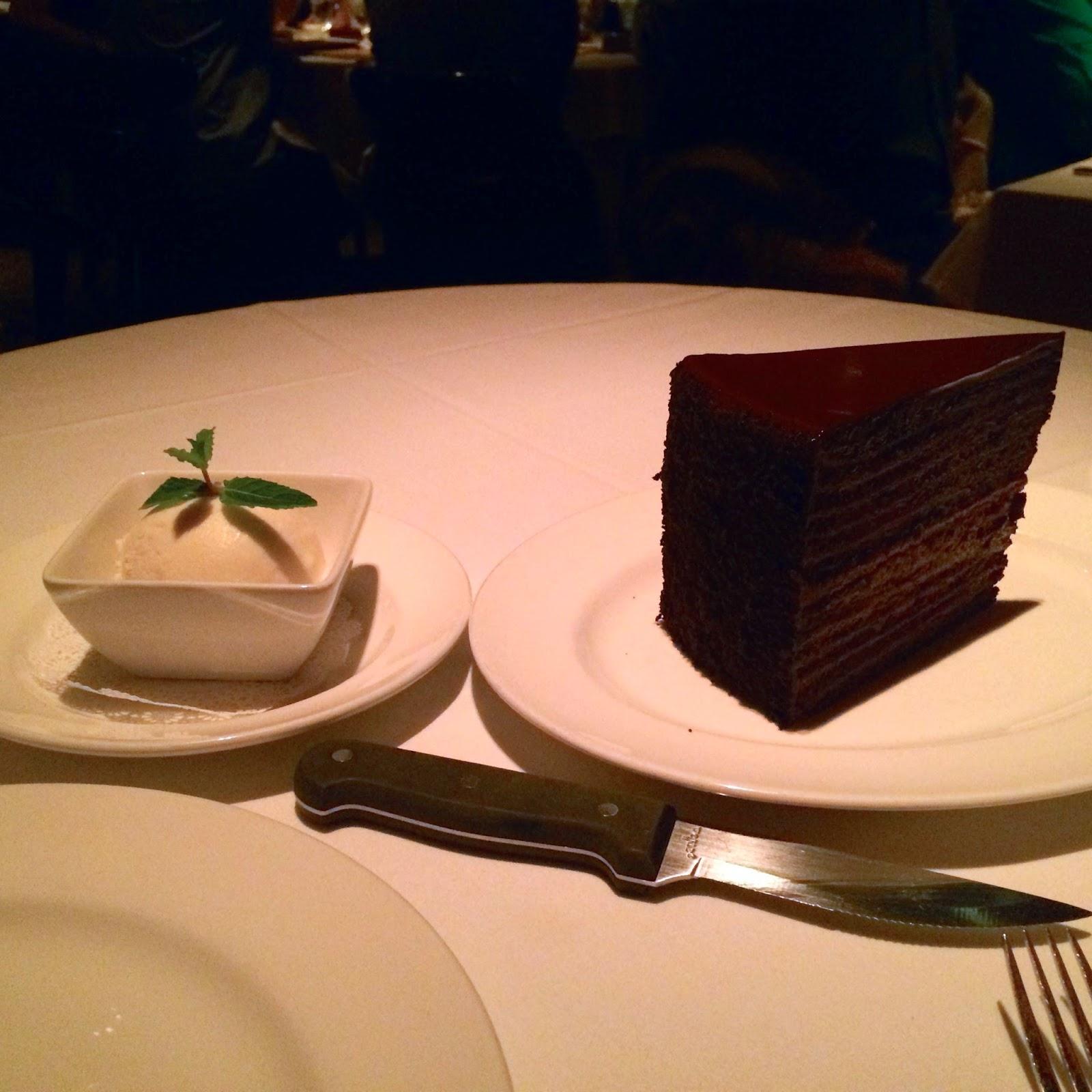Layer Chocolate Cake Strip House Las Vegas