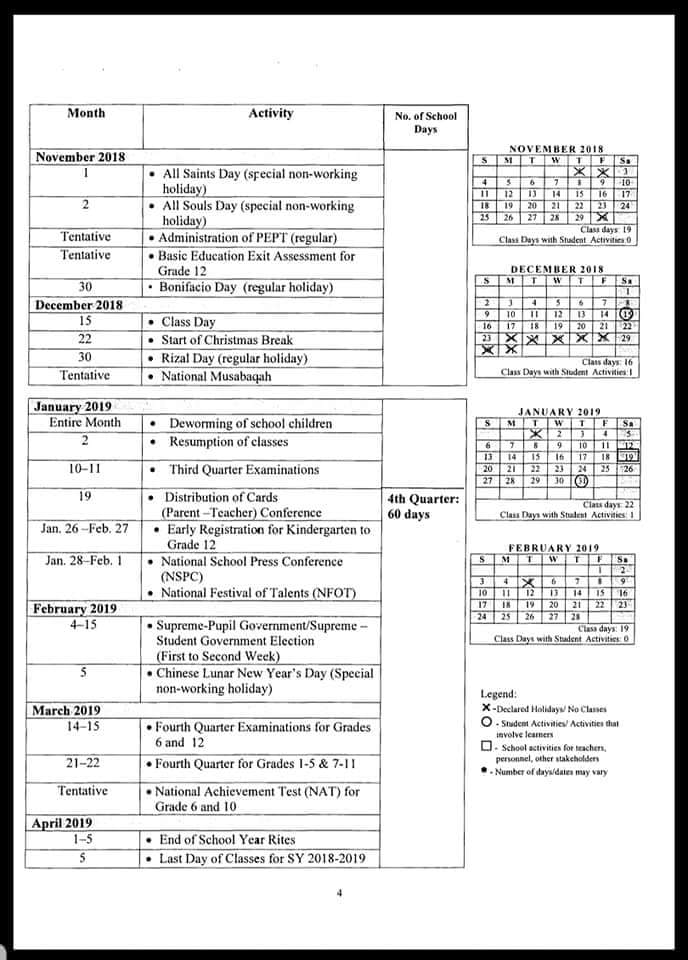 link 2 deped tambayan drive do 25 s 2018 school calendar for school year 2018 2019 download