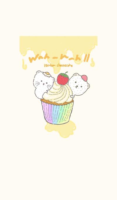 Wah-Wah 2 : rainbow cheesecake