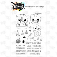 IO3 Purr-ific Kitty Cat 4x6 Clear Stamp Set