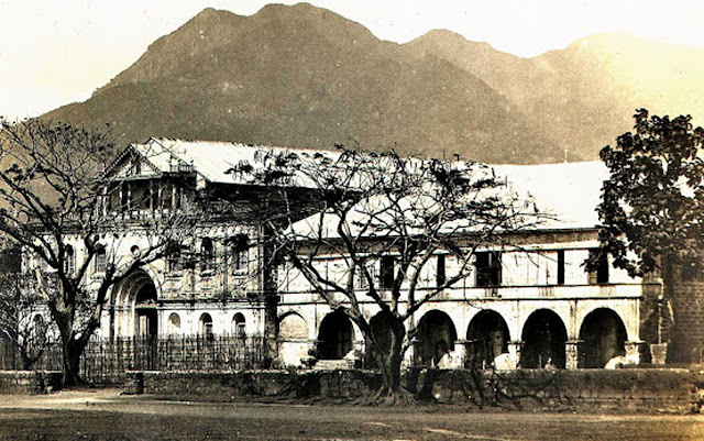 "The Church and convent in Tanauan, taken in the early 1900s. Image source: ""Everett Thompson Photograph Collection"" of the University of Michigan."