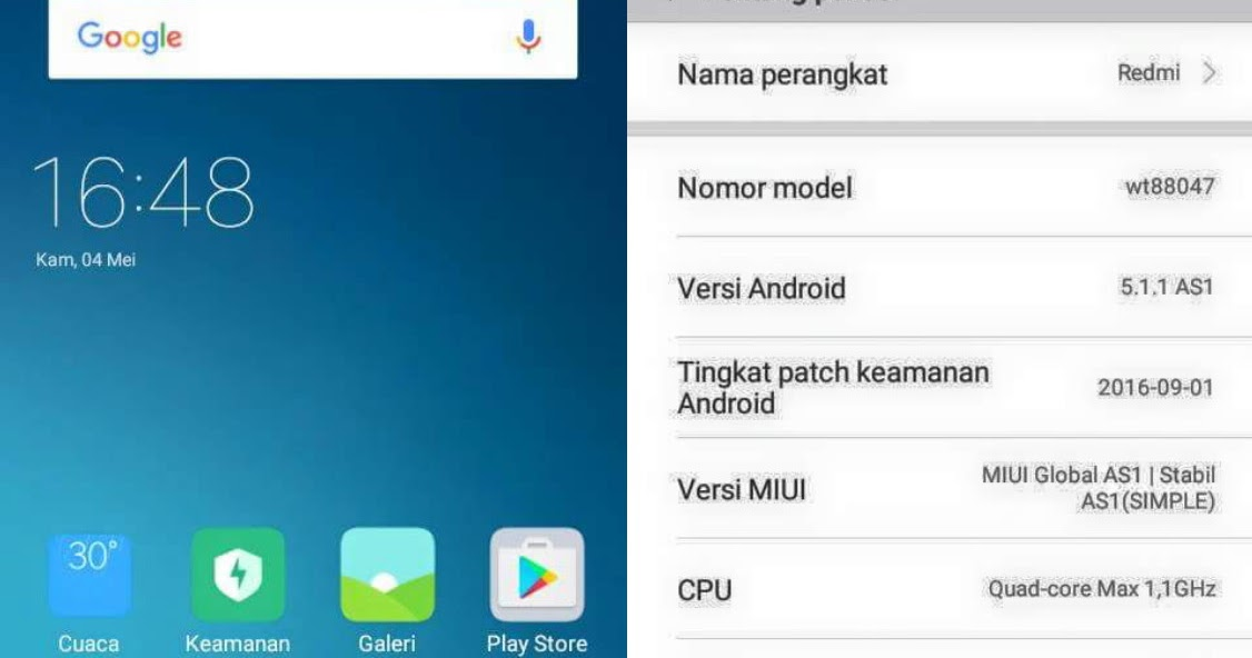 Download Custom Rom MIUI 8 Global AS1 - V8.1.3.0 Andromax A A16C3H