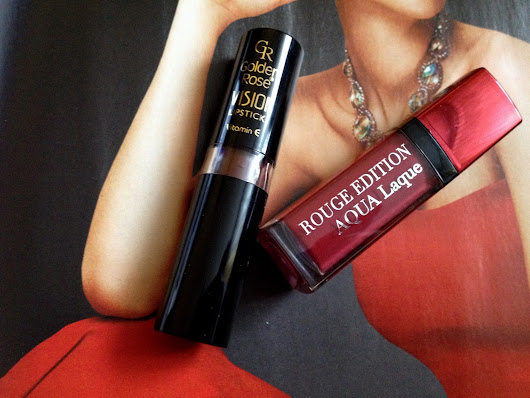 Golden Rose Vision Lipstick vs Bourjois Rouge Edition Aqua Laque