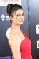 Meenakshi Dixit in Red One Shoulder Red Zipped up gown at IIFA Utsavam Awards008.JPG