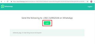 2 Cara Ampuh Kirim Pesan Whatsapp Tanpa Simpan Nomor Penerima