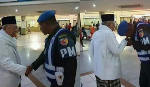 TNI Cinta Ulama, Personel Denpom Cium Tangan Kiai Ma'ruf Amin