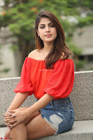 Rhea Chakraborty in Red Crop Top and Denim Shorts Spicy Pics ~  Exclusive 286.JPG