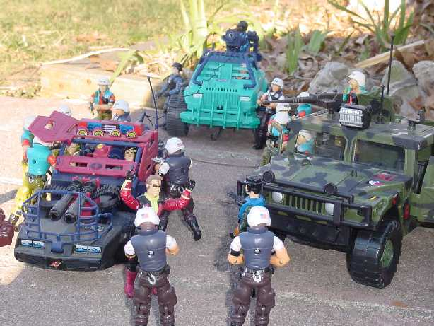 1987 Law, 2000 Law, ARAHC, Sure Fire, 2001, 1992 Shockwave, DEF, Zarana, 1986, Zandar, Dreadnok Thunder Machine, Buzzer, 1985, 1993 Mudbuster, Gristle, Ripper, Thrasher