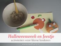 Halloweenweek en feestje - activiteiten voor kleine kinderen