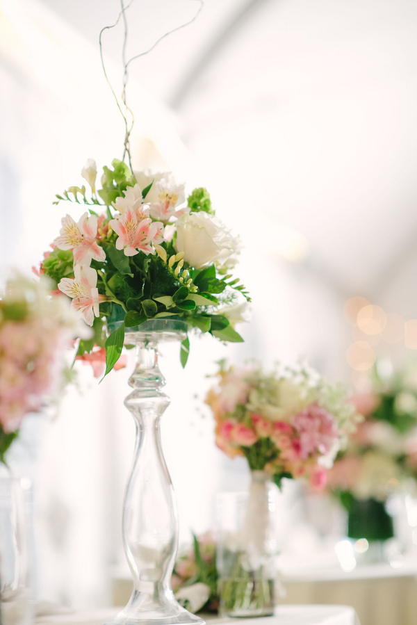 bridal+white+wedding+shabby+bride+chic+pink+gold+white+outdoor+summer+spring+wedding+floral+arrangements+tent+flowers+bouquet+lace+programs+menu+cake+table+bridesmaids+dresses+hair+peach+rose+reyna+wilton+photography+28 - Marshmallow Pink