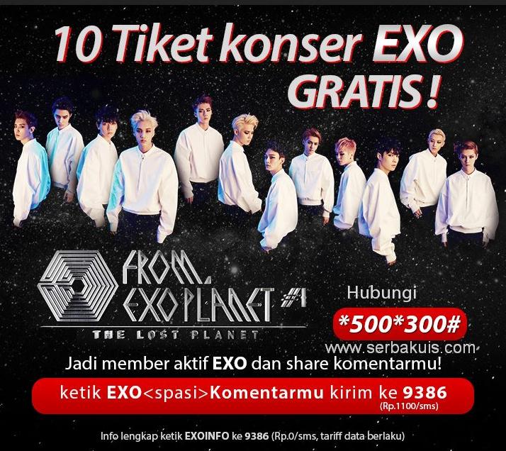 Promo Berhadiah 10 Tiket Konser EXO GRATIS!