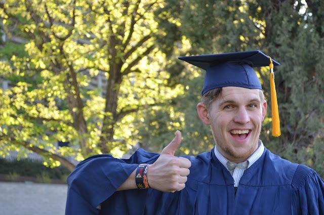 Goofy guy graduating, congratulations goober