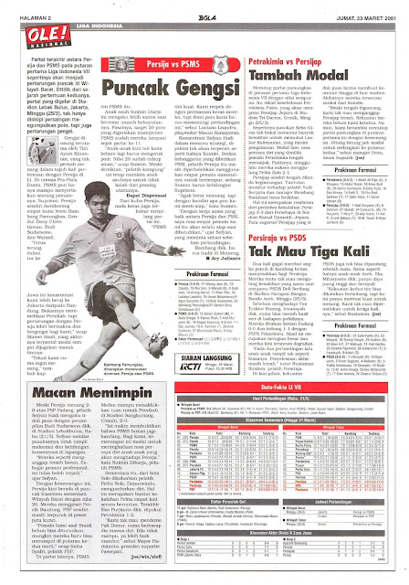 LIGA INDONESIA: PERSIJA VS PSMS PUNCAK GENGSI