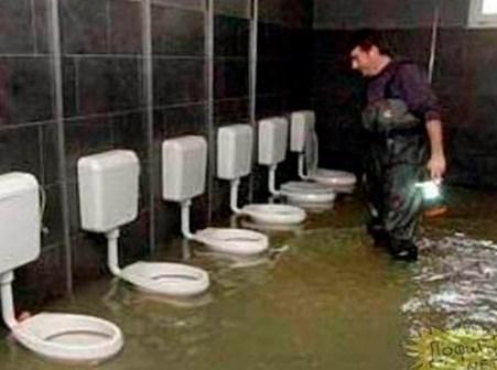 Soldados no banheiro