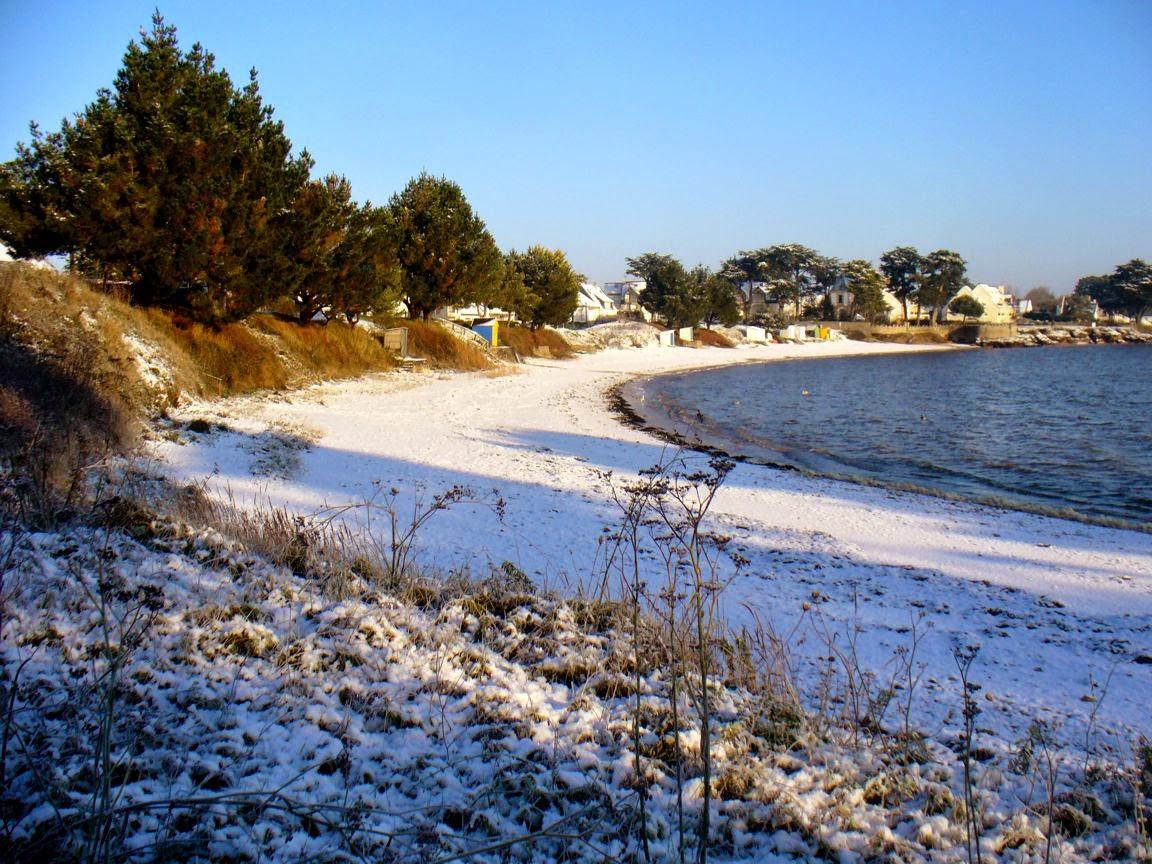 neige à kervoyal_la peite plage