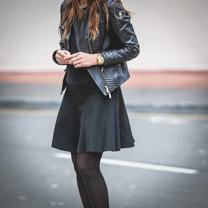 perfecto,caxzadora de cuero , Es cuestion de estilo, Lucía Díez ,Personal Shopper , San Sebastián .