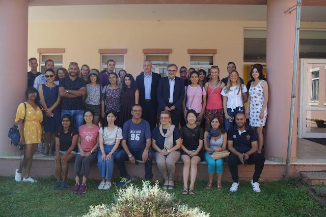 """Γιάννενα: Ο Πρύτανης του Πανεπιστημίου Ιωαννίνων και φοιτητές του προγράμματος """"Erasmus"""" επισκέφθηκαν το Δήμο Ζίτσας"""