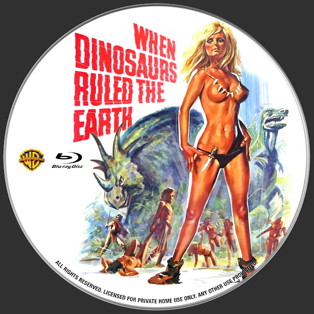 When Dinosaurs Ruled the Earth Bluray Label