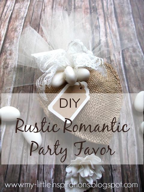 Tutorial Bomboniere Matrimonio Rustico Romantico bomboniera copertina - MLI