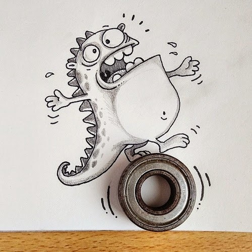 14-Drogo-on-a-Wheel-Manik-N-Ratan-maniknratan-Cartoon-Drawings-www-designstack-co