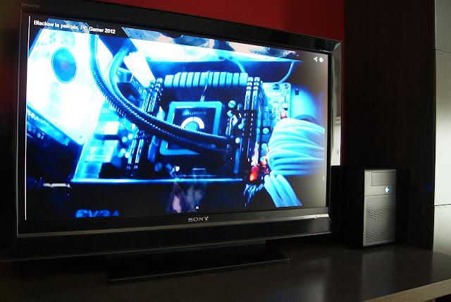 MicroServer N40L (N54L) conectado a la TV como HTPC