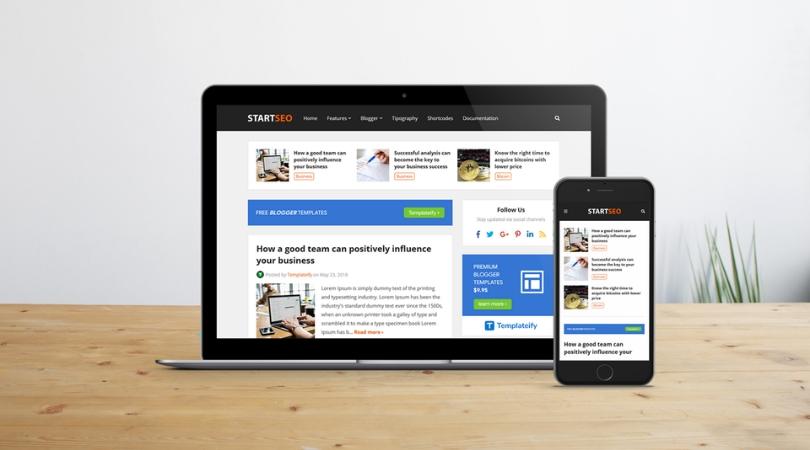 StartSeo - Responsive Blogger Template