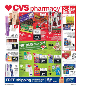 CVS Weekly Ad $10 Holiday Cash Card December 9 - 15