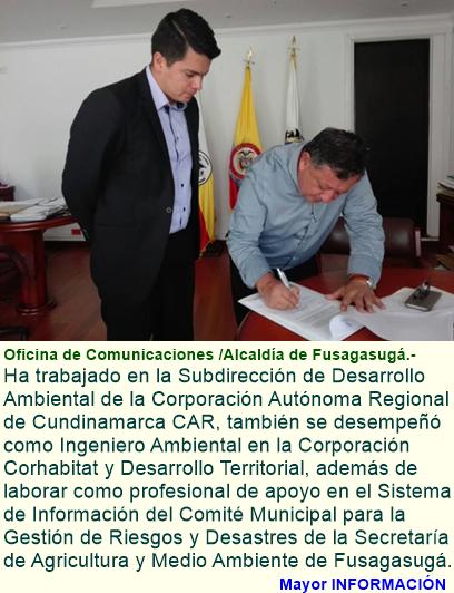 NUEVO DIRECTOR DE MEDIO AMBIENTE PARA FUSAGASUGÁ