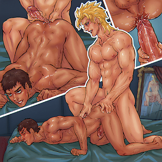 jojo's bizarre adventure adult art gay anal minicomic
