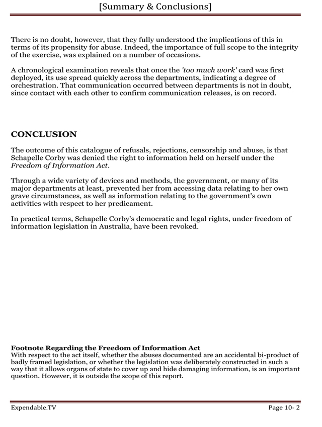 information report conclusion