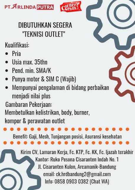 Lowongan PT. Arlinda Putra (Corner Kebab)