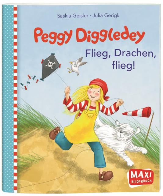 """Das Bücherboot: Kinderbücher vom Drachen steigen lassen (+ Verlosung). Dabei ist auch das süße Kinderbuch """"Peggy Diggledey - Flieg, Drache, flieg!"""""""