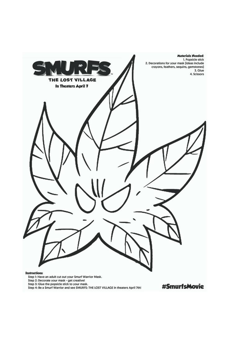 MOMMY BLOG EXPERT: Smurfs Kids Mask Craft Celebrates