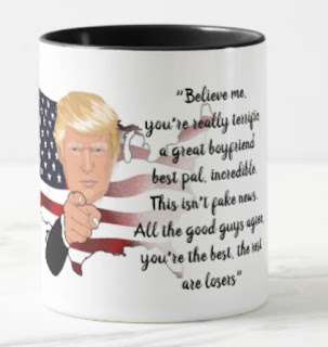 Funny boyfriend mug - trump fav. words
