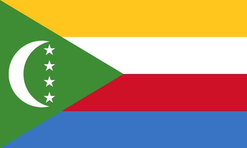 Logo Gambar Bendera Negara Komoro PNG JPG ukuran 800 px