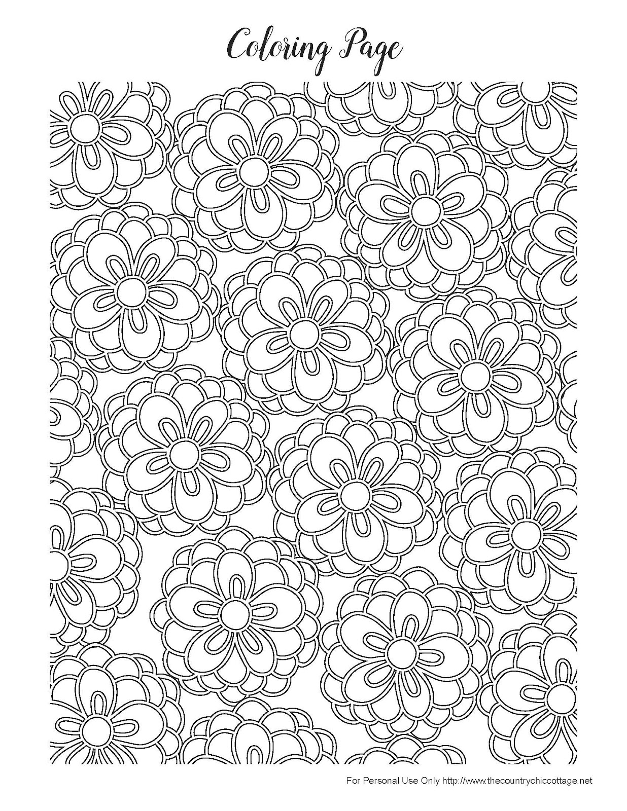 Best HD Pretty Flower Coloring Pages Pictures