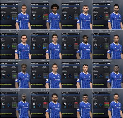 PES 2017 Chelsea Facepack 1.0