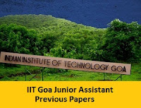 IIT Goa Junior Assistant Previous Papers