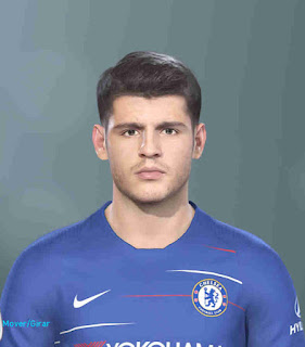 PES 2019 Faces Álvaro Morata by Hugimen