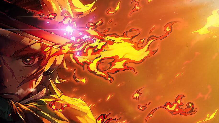 Tanjiro, Kamado, Flame, Kimetsu no Yaiba, 4K, #7.1138 ...