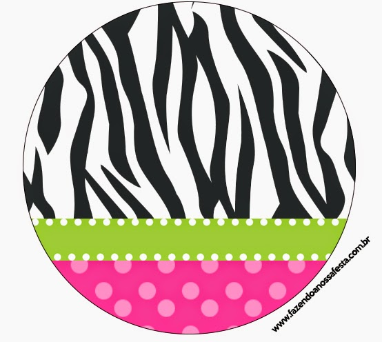Toppers or Free Printable Zebra and Pink Candy Bar Labels.
