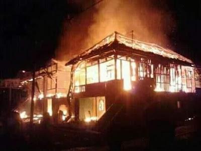 Empat Rumah di Pedamaran Hangus Terbakar