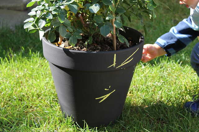 DIY Tafellack Blumentopf