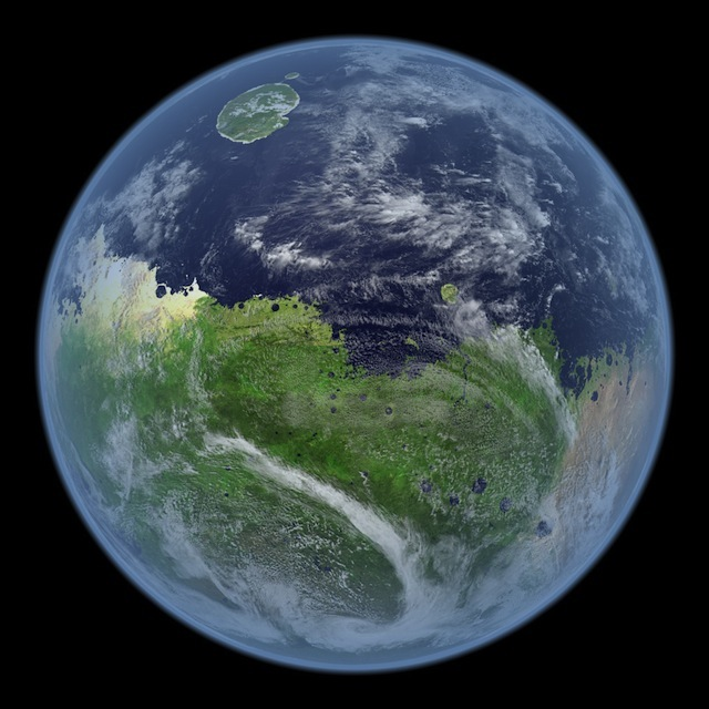 This is how Mars would like with water & vegetation