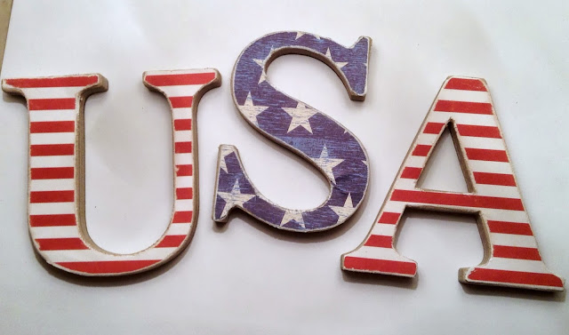 Distresed USA Letters #patriotic #4thofJuly #usa #memorialday #redwhiteblue