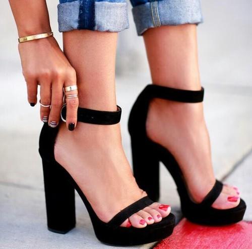 Zapatos Tacon Mediano Cuadrado De Tac贸n sandalias Asos LR5j43Aq