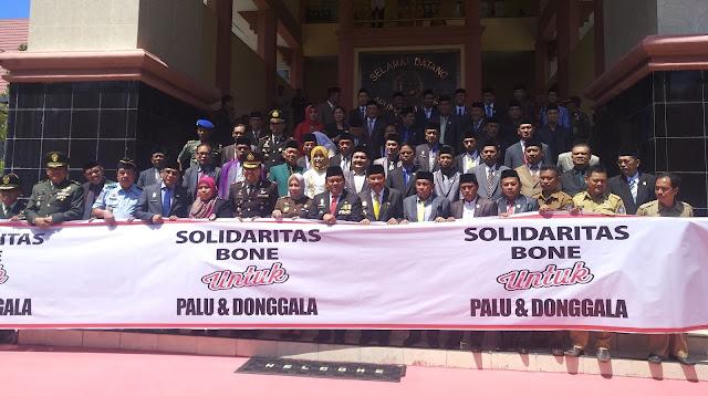 DPRD Bone Gelar Rapat Paripurna Penyampaian Pidato Visi Misi Bupati  Bone periode 2018 - 2023 Sekaligus Penggalangan Dana For Donggala - Palu